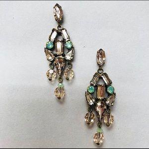 Sorrelli Jewelry - Apricot Agate & Mint Alabaster Earrings, NWT